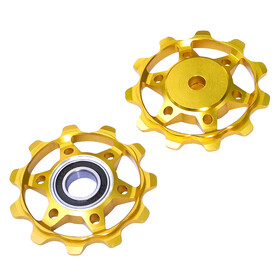 NC-17 Shimano / Sram pulleys set 11 teeth gold